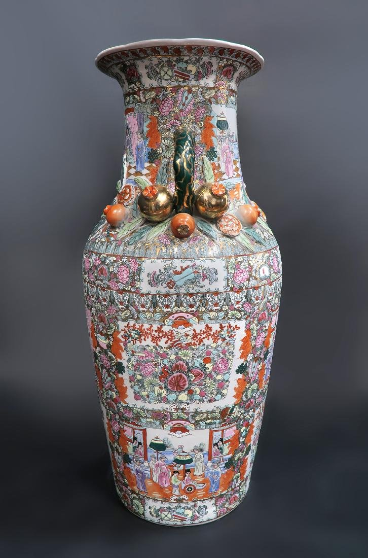 Monumental Qing Dynasty Style Chinese Vase