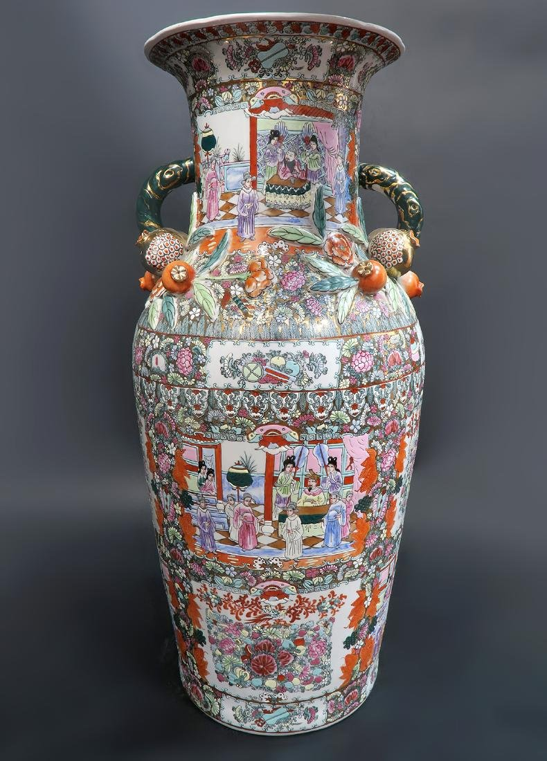 Monumental Qing Dynasty Style Chinese Vase - 2