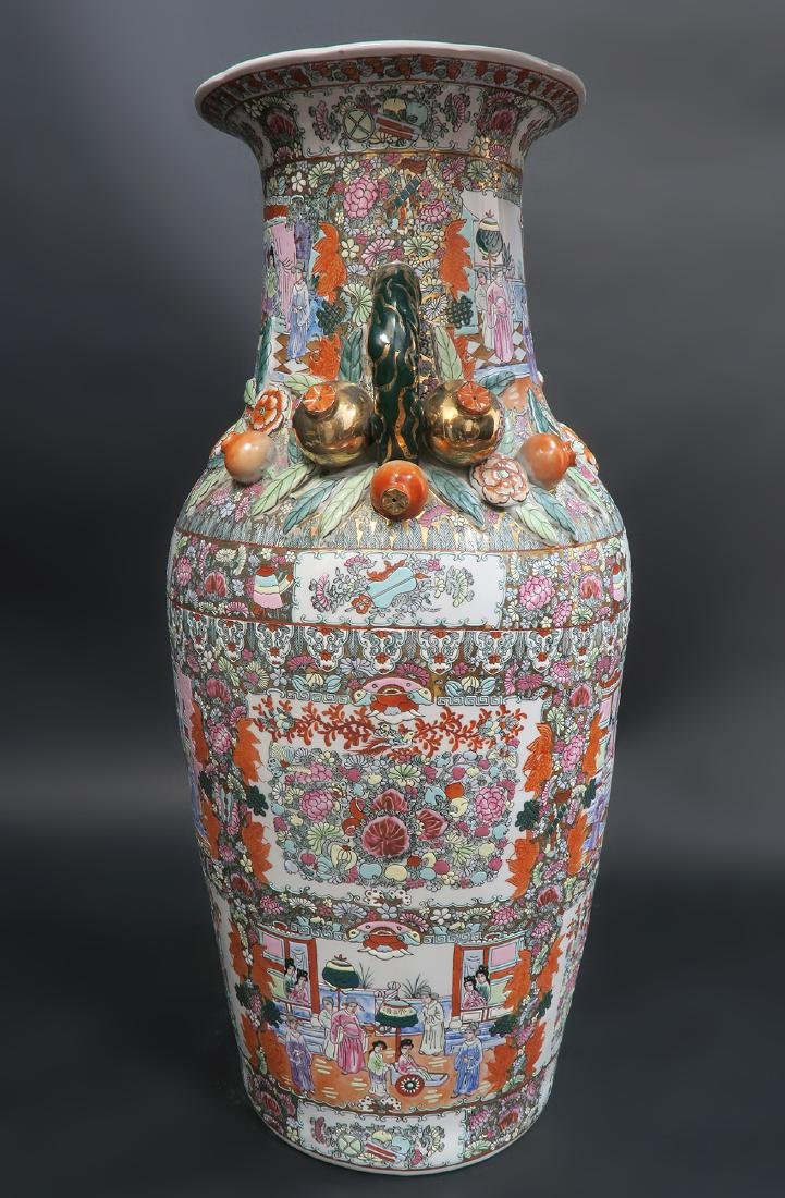 Monumental Qing Dynasty Style Chinese Vase - 3