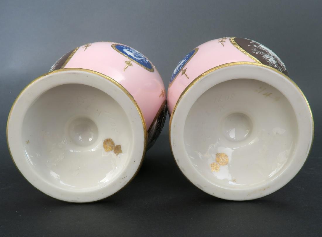 A Pair of Albion Birks Mintons Pate Sur Pate Vases - 10