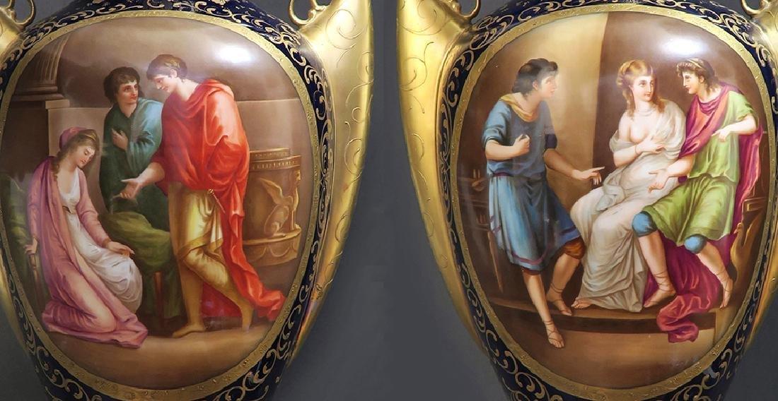Monumental Pair of Royal Vienna Vases. 19th C. - 2