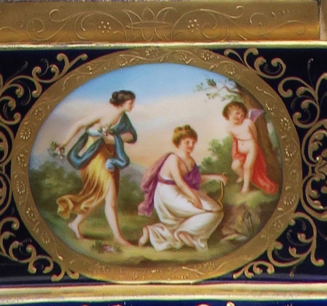 Monumental Pair of Royal Vienna Vases. 19th C. - 4