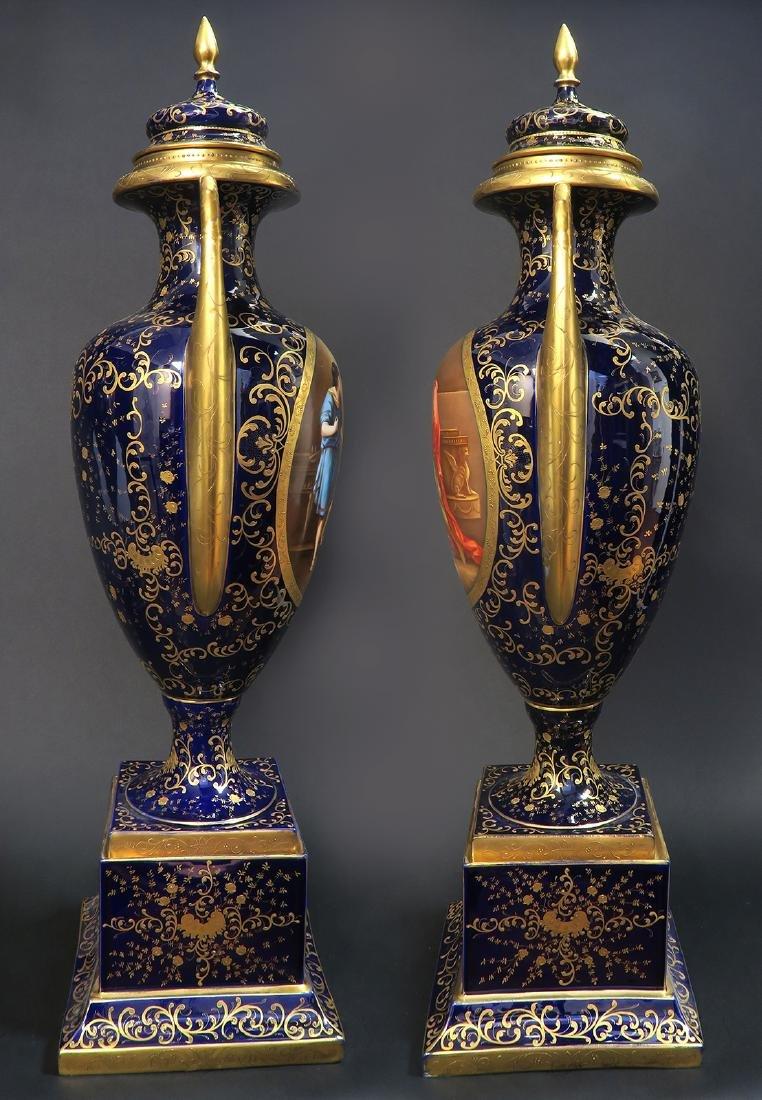 Monumental Pair of Royal Vienna Vases. 19th C. - 6