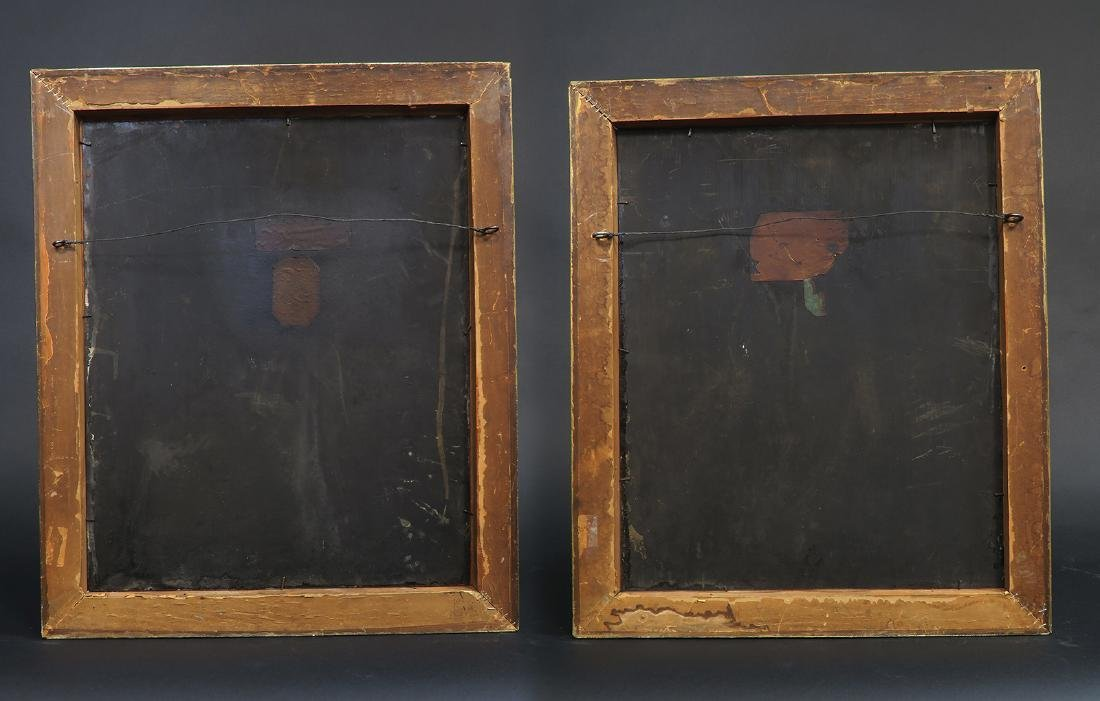 Pair Of 19th C. Orientalist Oil On Copper Paintings - 5