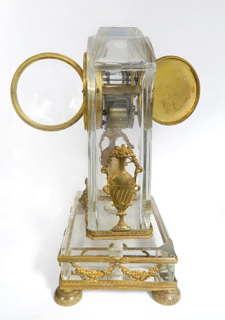French Bronze & Baccarat Crystal Desk Clock, 19th C. - 4