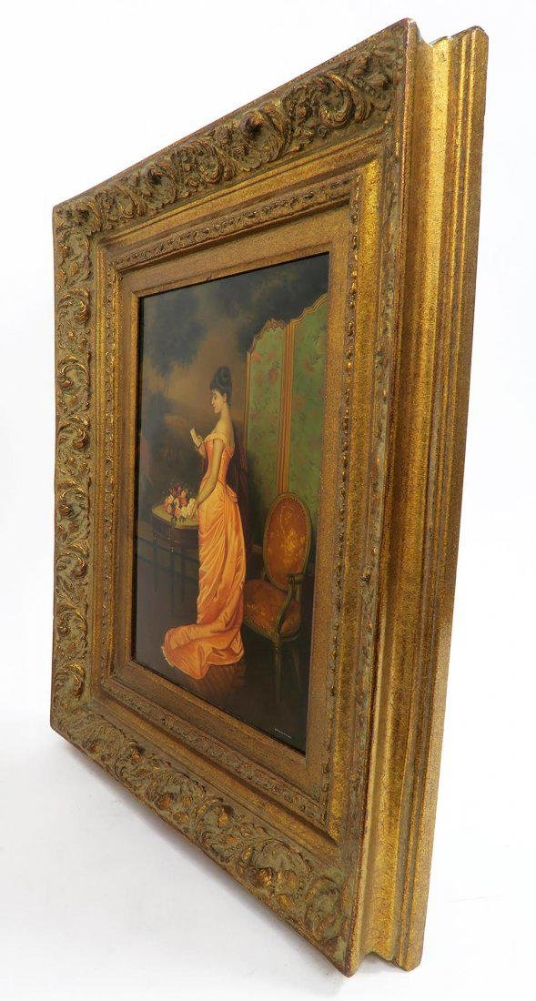 French 19th C. Glazed Painting on board - 5