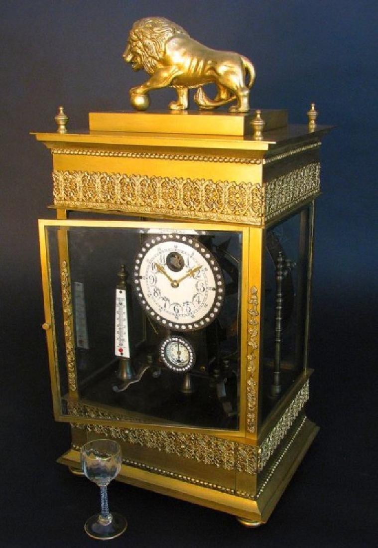 Large French Gilt Bronze Mechanical Falling Ball Clock - 3