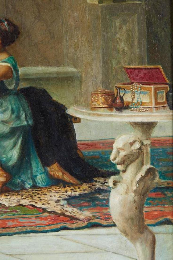 "Guglielmo Zocchi ""Harem Scene"" Orientalist Oil Painting - 5"