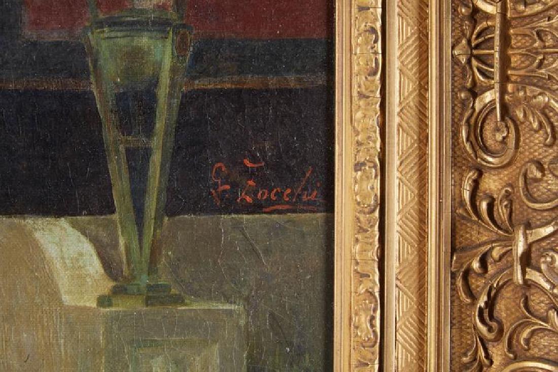 "Guglielmo Zocchi ""Harem Scene"" Orientalist Oil Painting - 6"