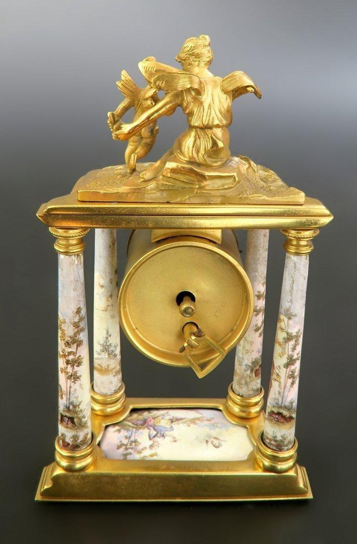 A Fine 19th C. Viennese Enamel on Bronze Figural Clock - 3
