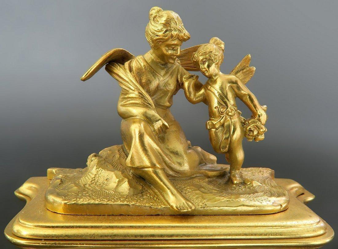 A Fine 19th C. Viennese Enamel on Bronze Figural Clock - 5