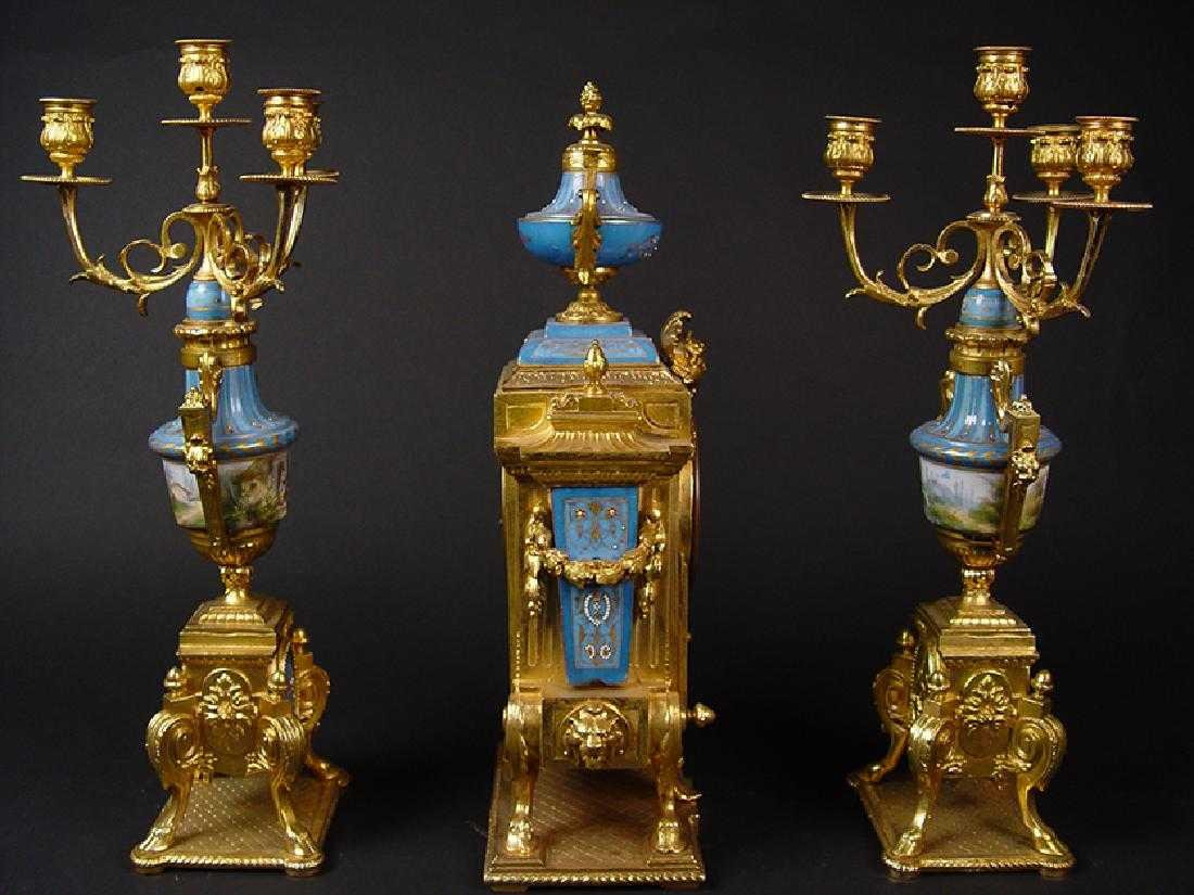 19TH CENTURY FRENCH SEVERS CLOCK SET - 2