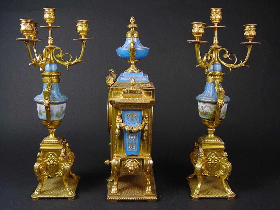 19TH CENTURY FRENCH SEVERS CLOCK SET - 5