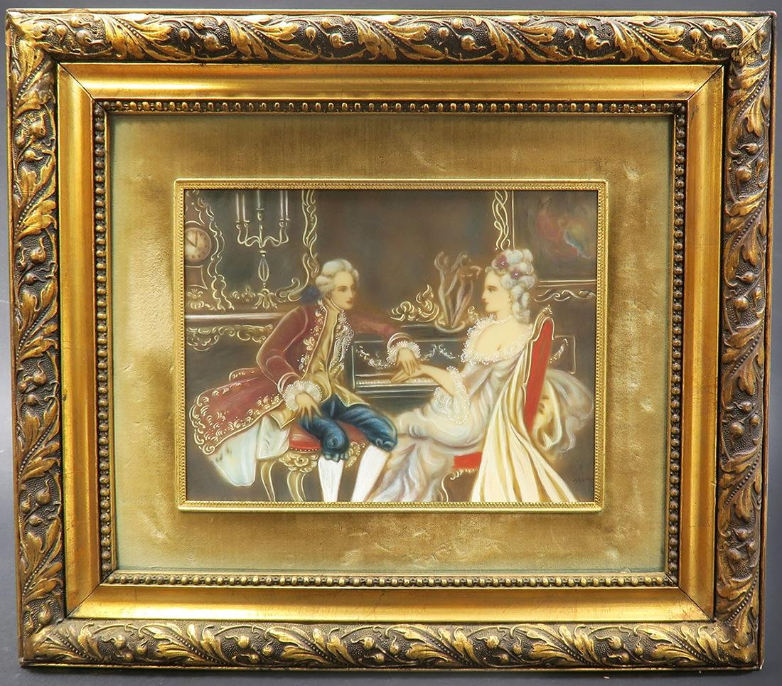 Pair Of 19th C. Italian Painting With Convex Glass - 3