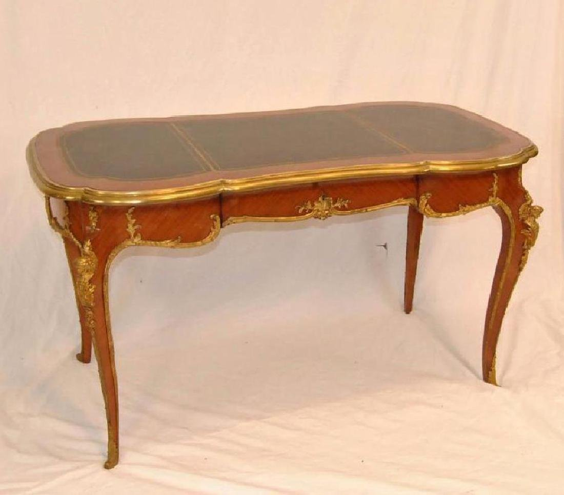 FRENCH LOUIS XV STYLE DESK SATINWOOD WITH ORMOLU MOUNTS - 2