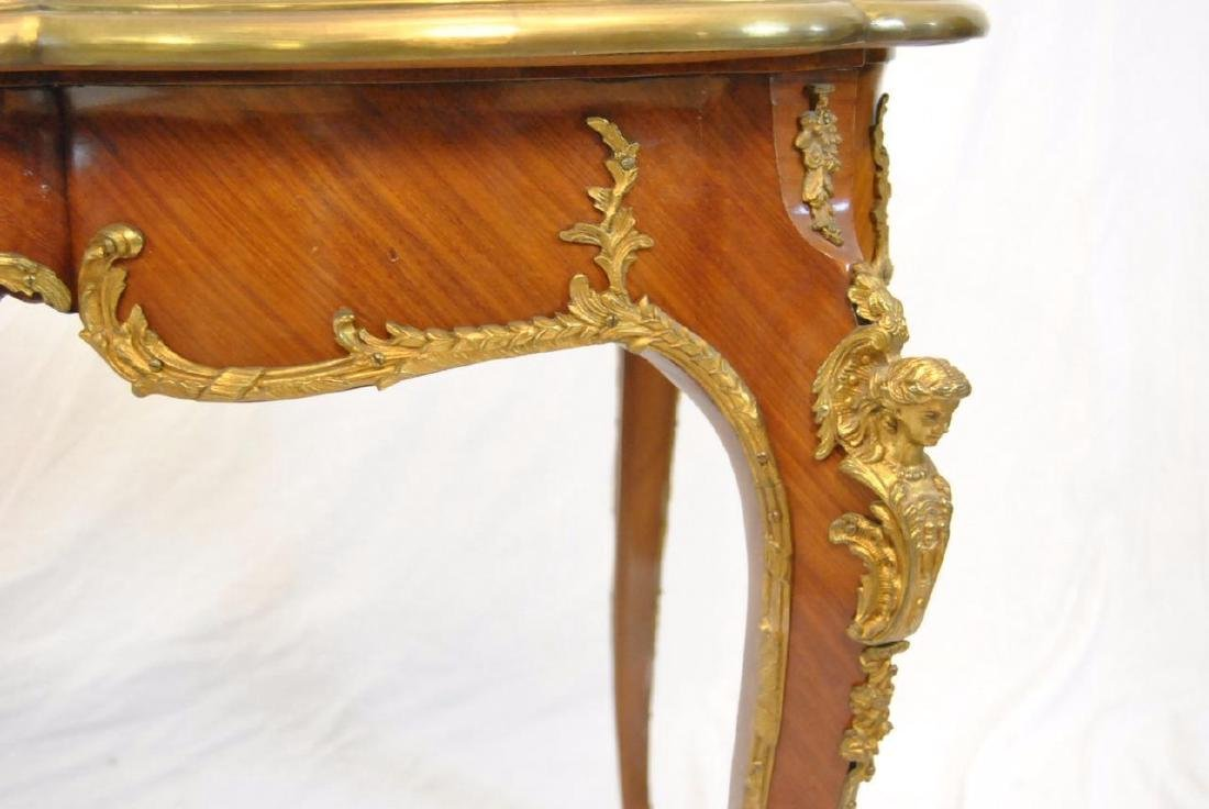 FRENCH LOUIS XV STYLE DESK SATINWOOD WITH ORMOLU MOUNTS - 3
