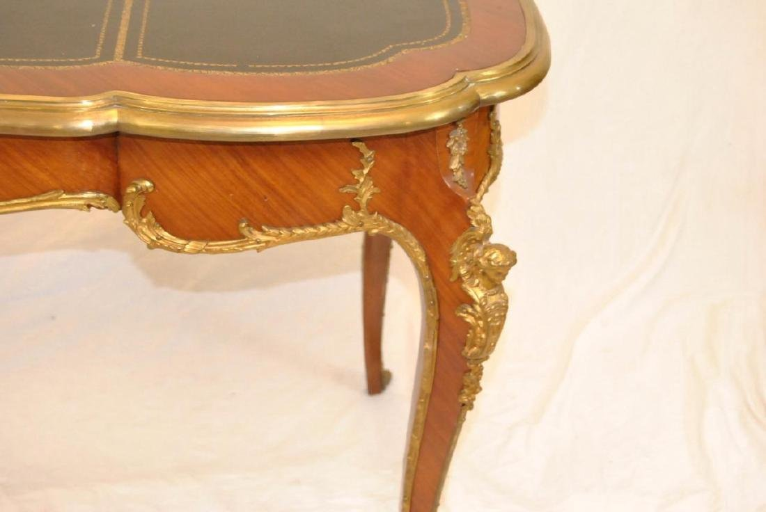 FRENCH LOUIS XV STYLE DESK SATINWOOD WITH ORMOLU MOUNTS - 4