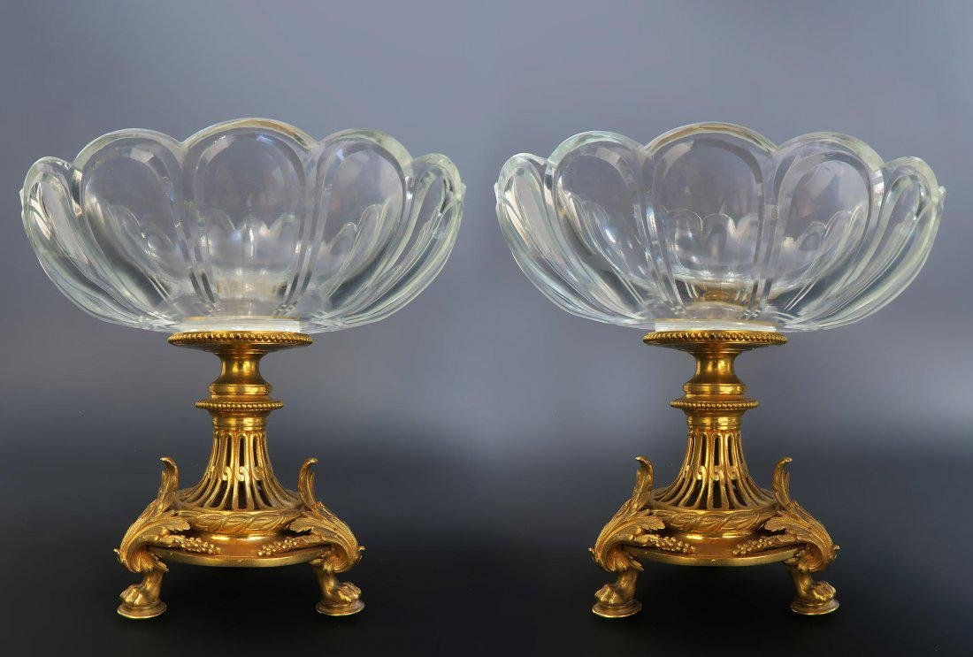 Pair of French 19th C. Christofle Tazza/Compotes