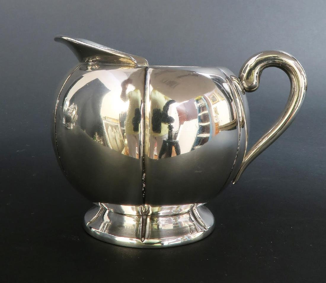 Large Sterling Silver 5pcs Tea Set with Tray - 3