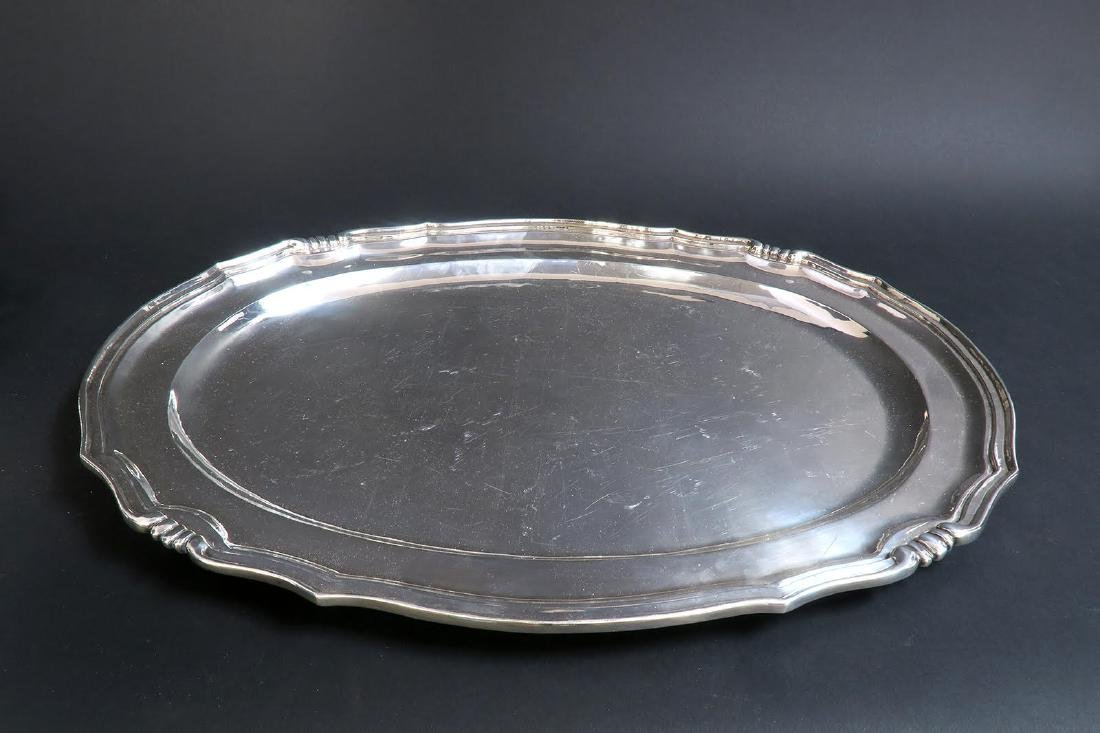 Large Sterling Silver 5pcs Tea Set with Tray - 7