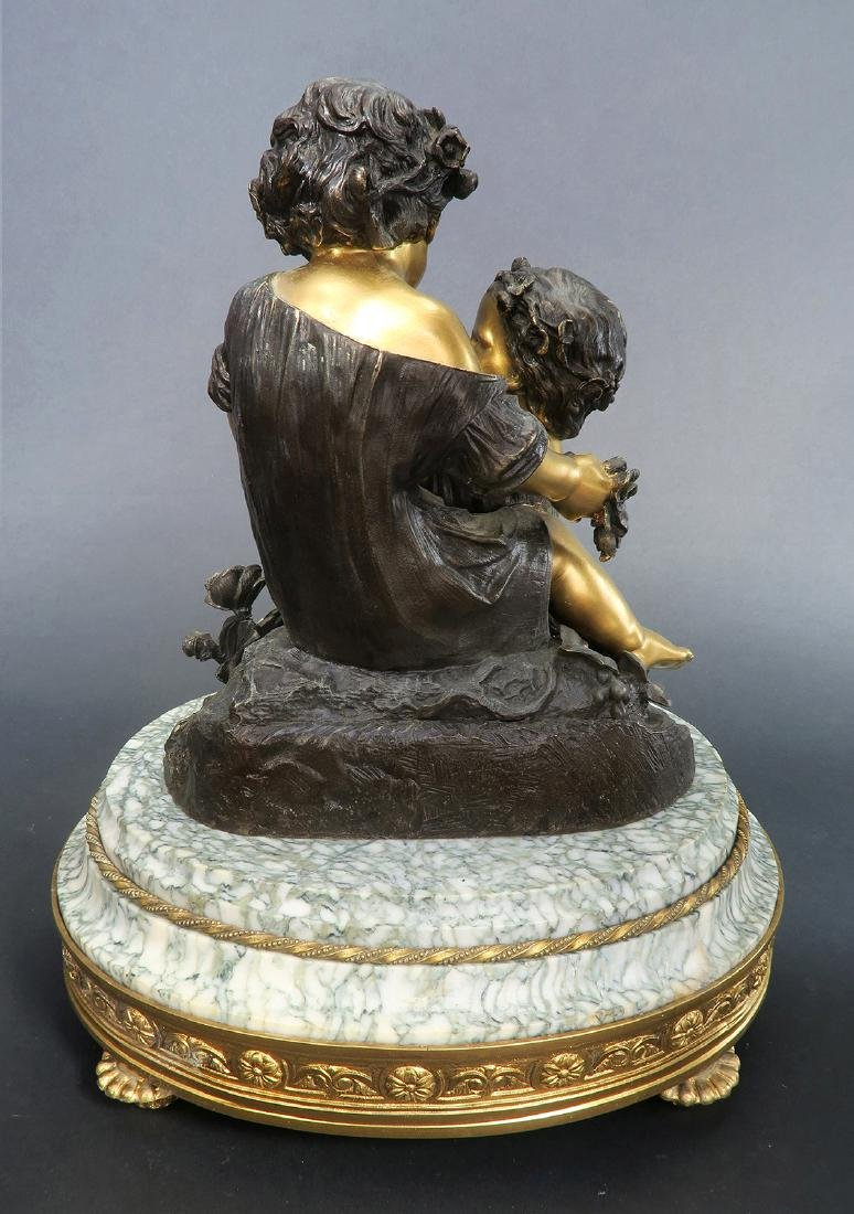 19th C. French Bronze Sculpture On Marble - 4