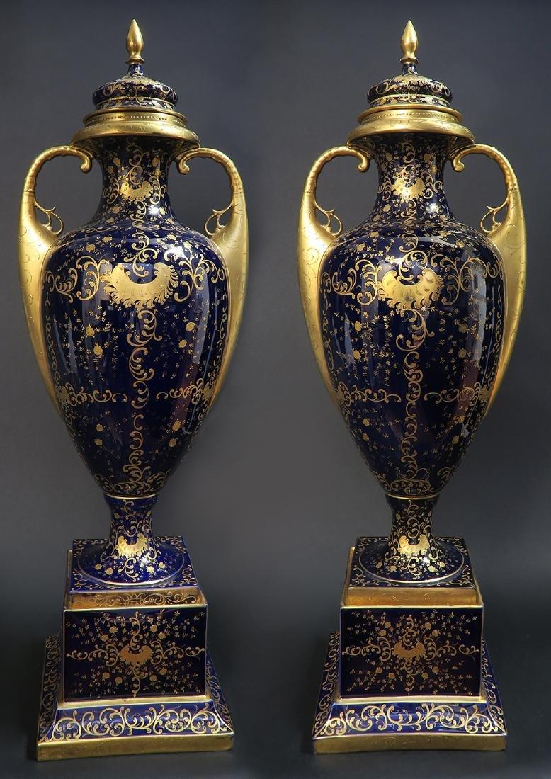 Monumental Pair of Royal Vienna Vases. 19th C. - 7