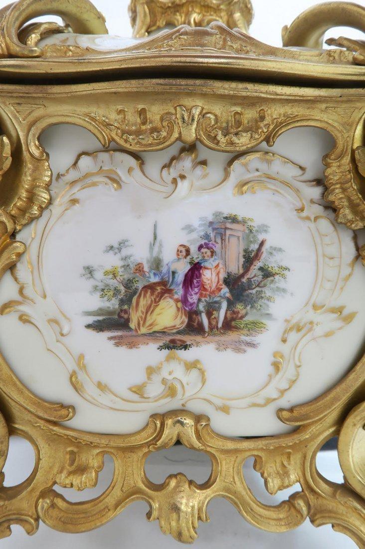 Large KPM Porcelain & Figural Bronze Jewelry Box - 10