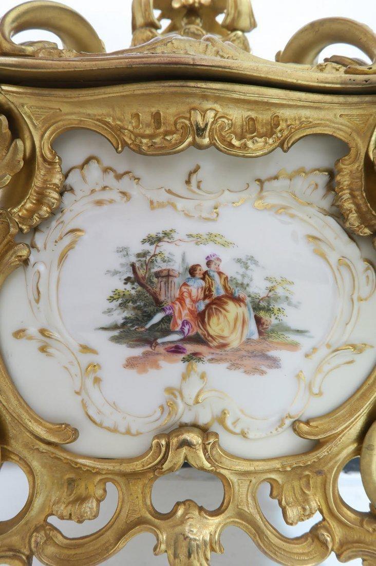 Large KPM Porcelain & Figural Bronze Jewelry Box - 8