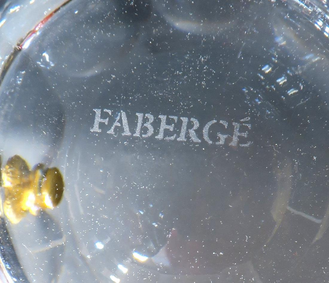 Faberge Crystal & Bronze Ice Bucket - 5