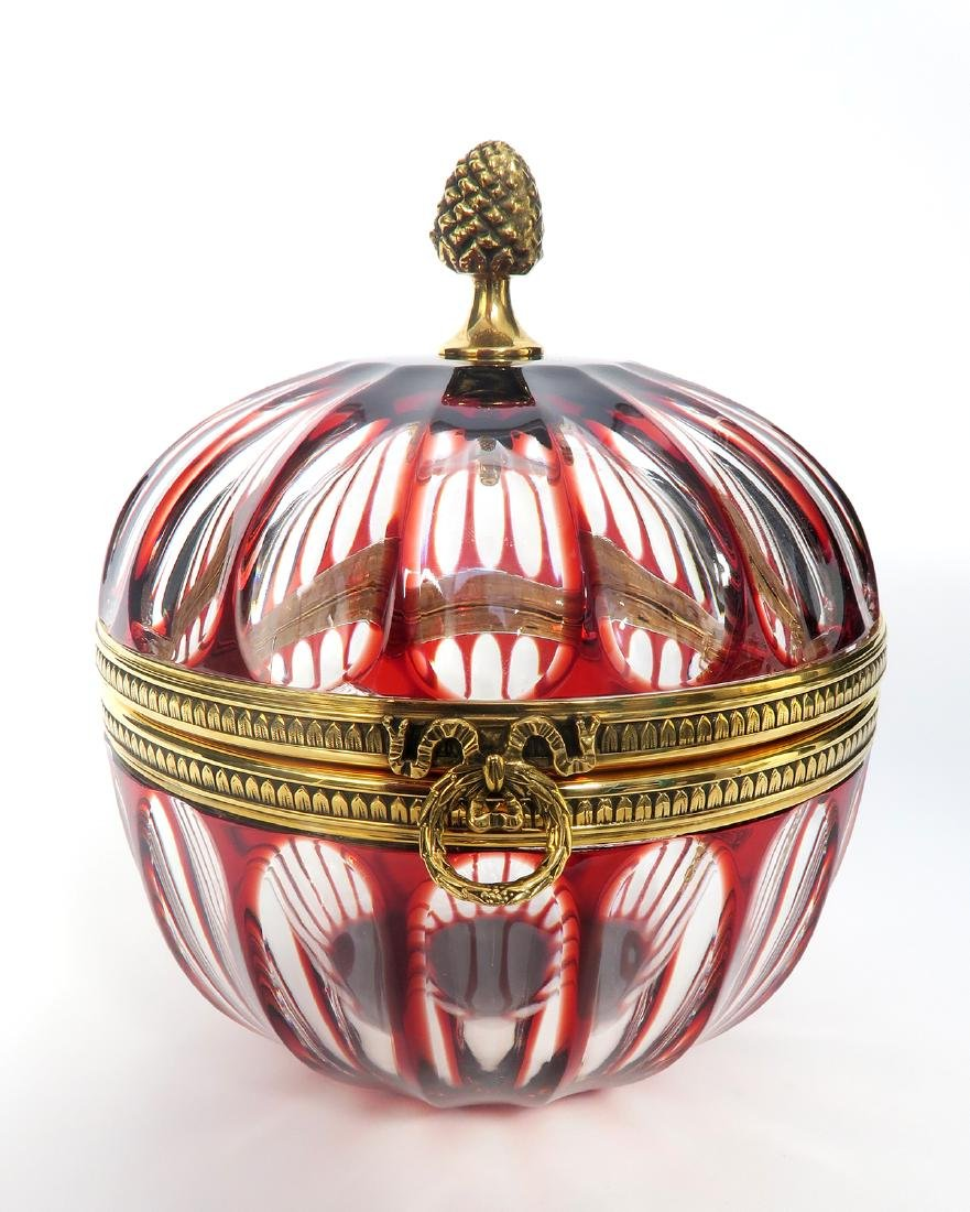Faberge Crystal Lidded Candy Dish