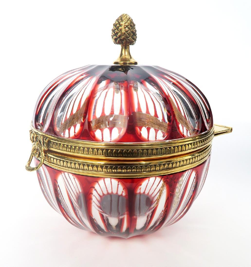 Faberge Crystal Lidded Candy Dish - 2