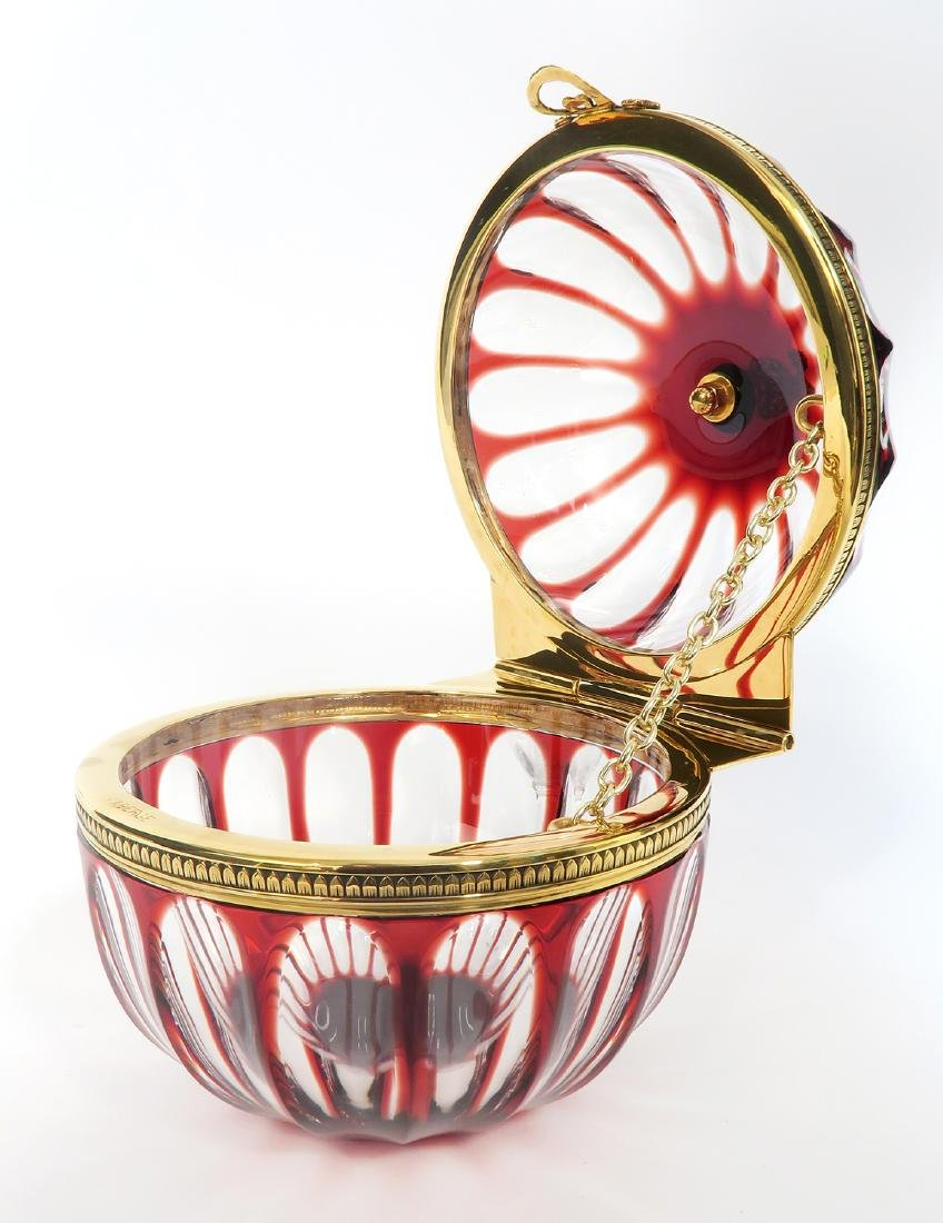 Faberge Crystal Lidded Candy Dish - 4