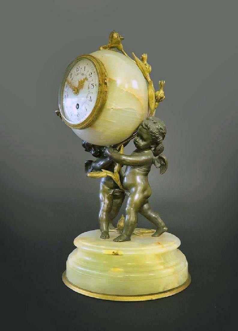 Beautiful French Gilt Bronze & Onyx Clock - 2