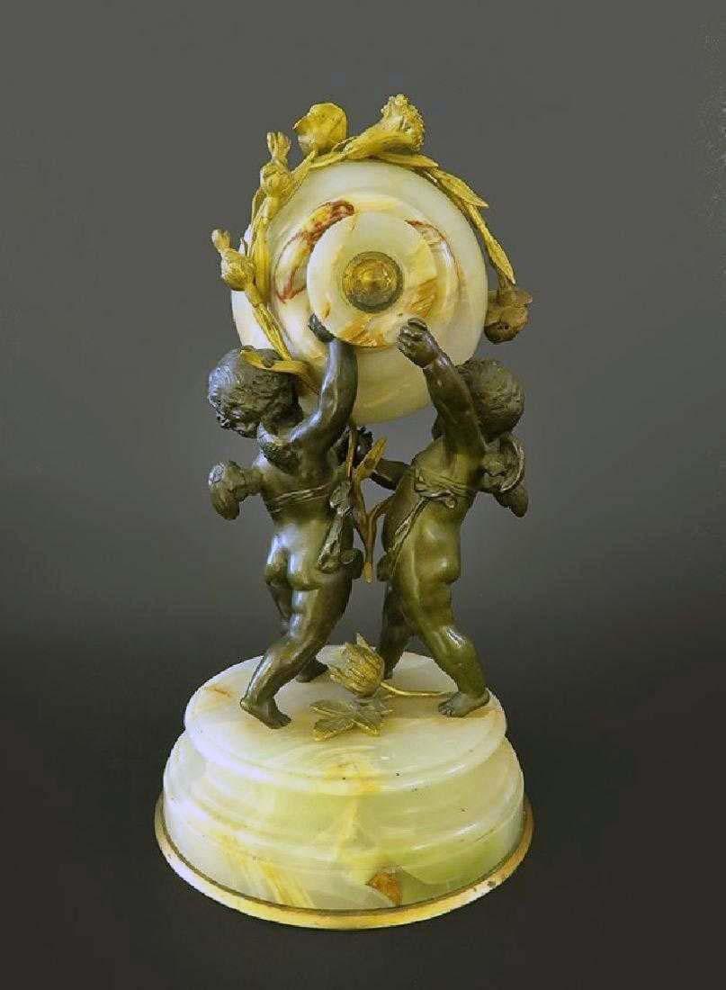 Beautiful French Gilt Bronze & Onyx Clock - 4