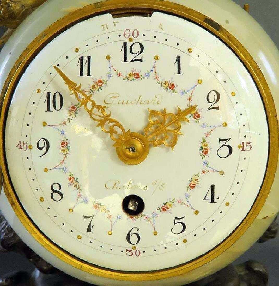 Beautiful French Gilt Bronze & Onyx Clock - 5