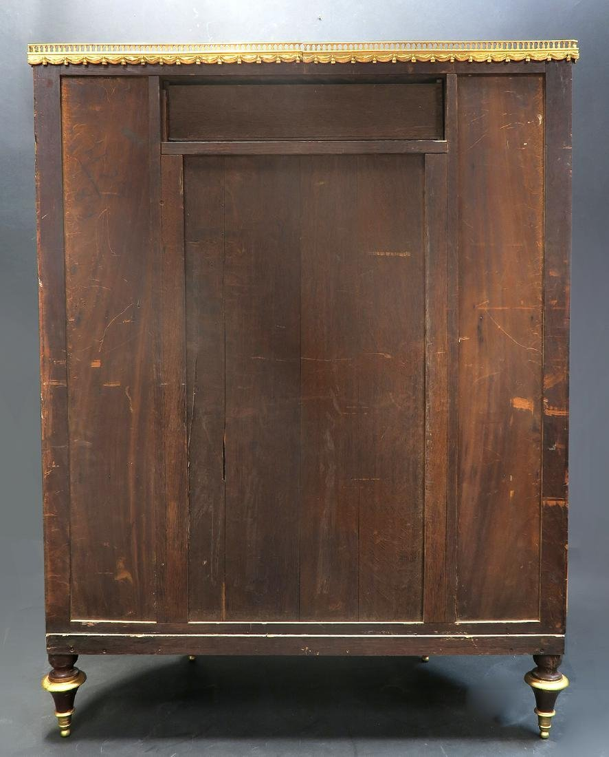 19th C. FRENCH LARGE BRONZE MOUNTED PAINTED CABINET - 6