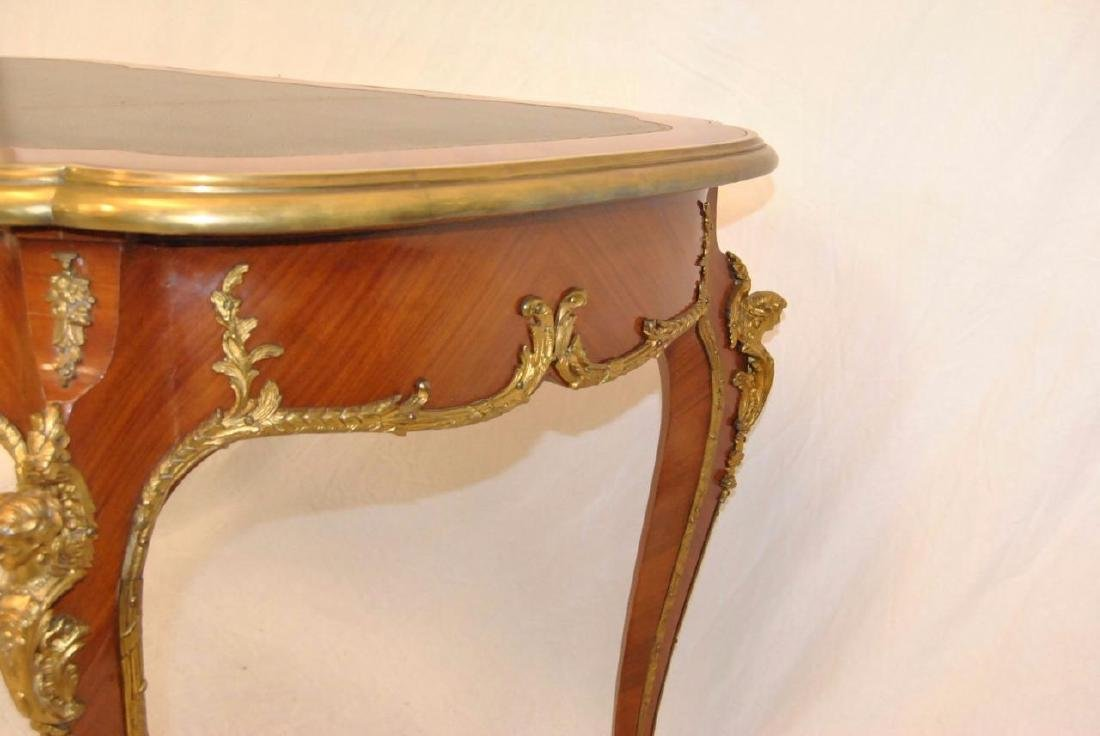 FRENCH LOUIS XV STYLE DESK SATINWOOD WITH ORMOLU MOUNTS - 7