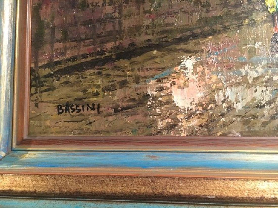"""""""Bassini"""" Oil on Canvas Painting, Signed! - 6"""