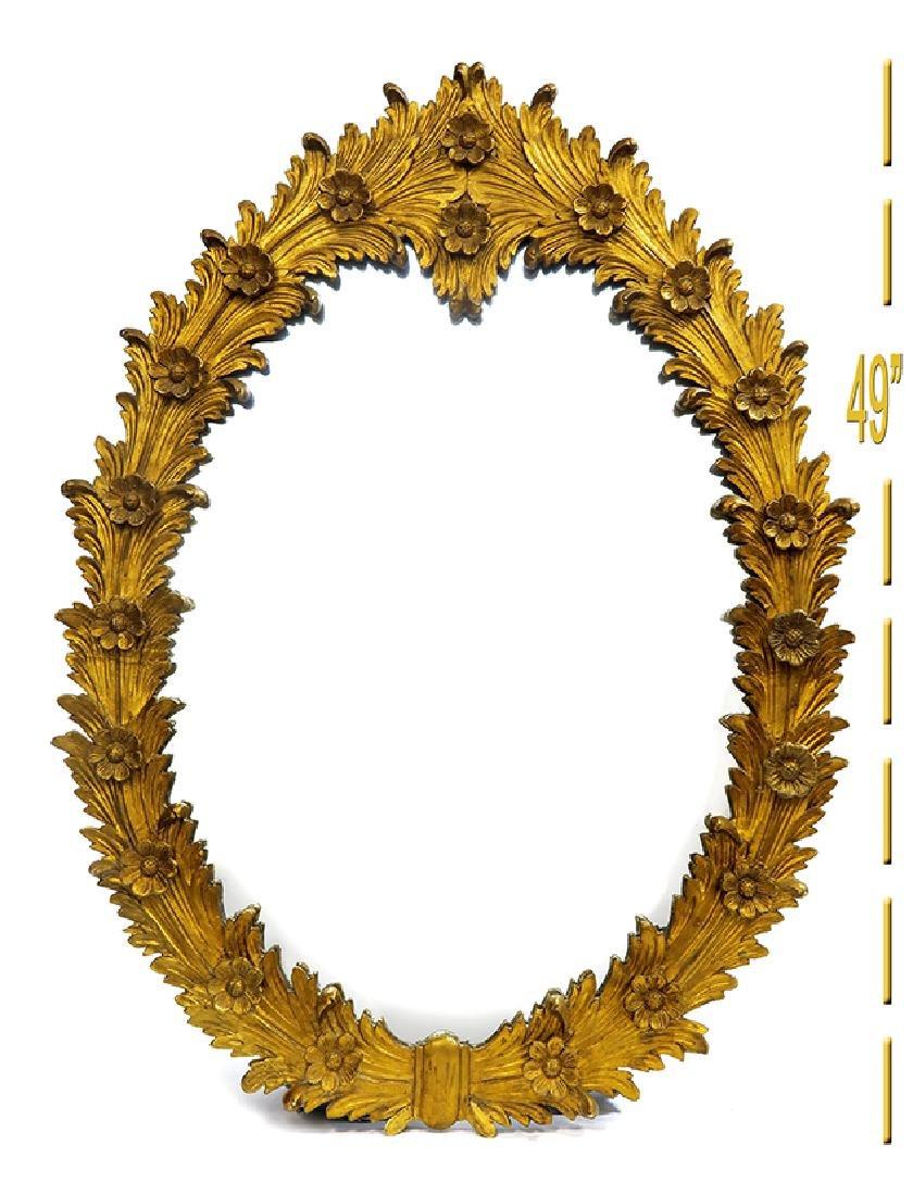 19th C. Gilt-wood Carved Mirror