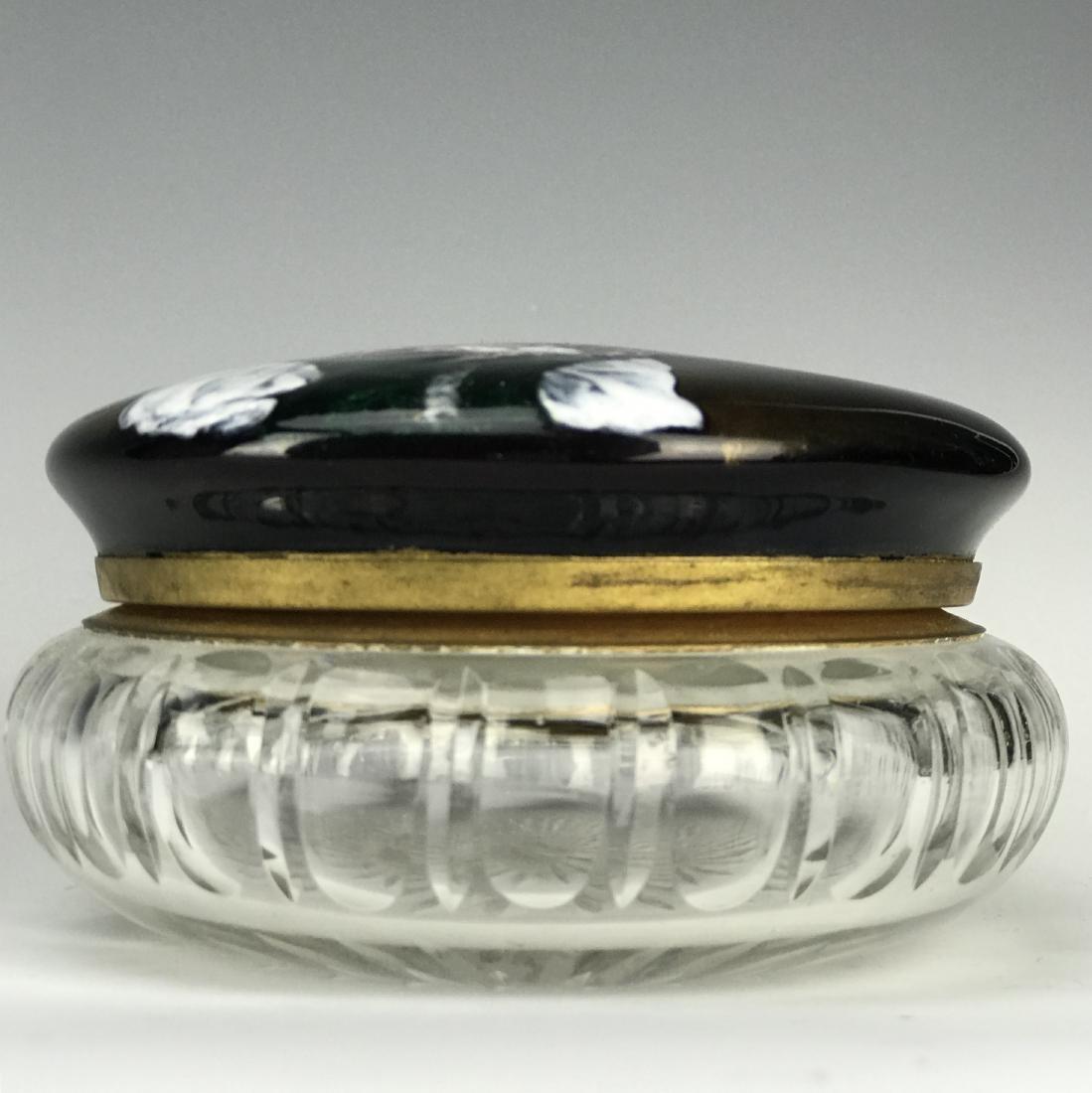 19th C. French Enamel & Crystal Jewelry Box - 5