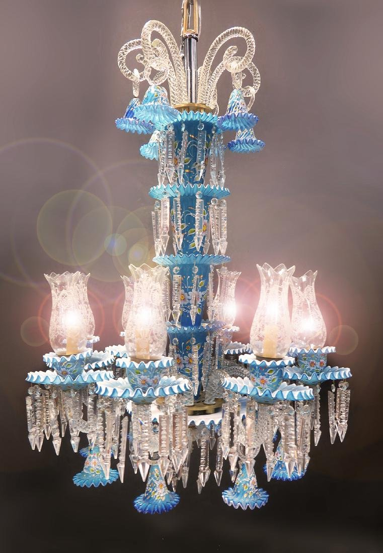 A Baccarat Style 8 Branch Chandelier - 2