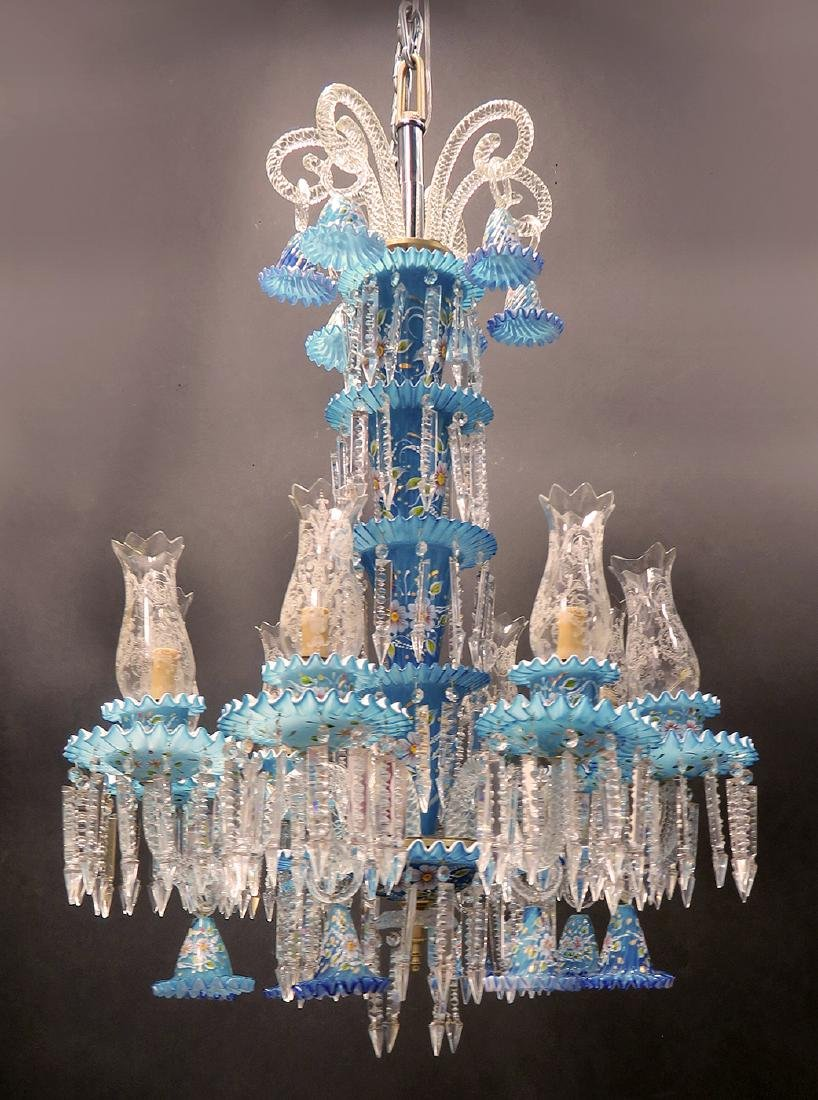 A Baccarat Style 8 Branch Chandelier - 3