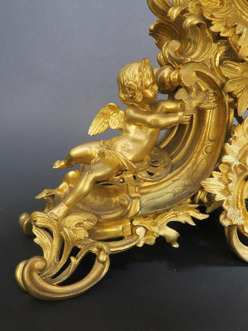 Large French Figural Bronze Clock Set. 19th C. - 6