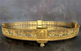 19th C French Bronze PlateauSurtout de Table