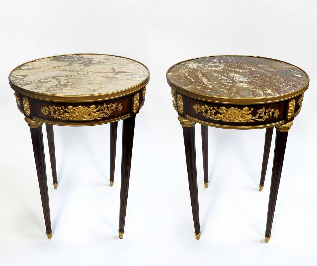 "Pair of Fine French ""Linke"" Side Tables. Signed!"