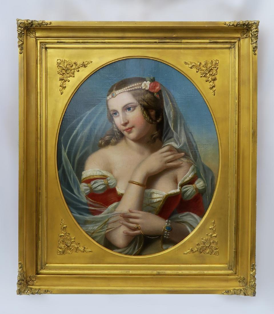 """""""The Ballerina"""" (Lucile Grahn) Oil on Canvas, 19th C."""