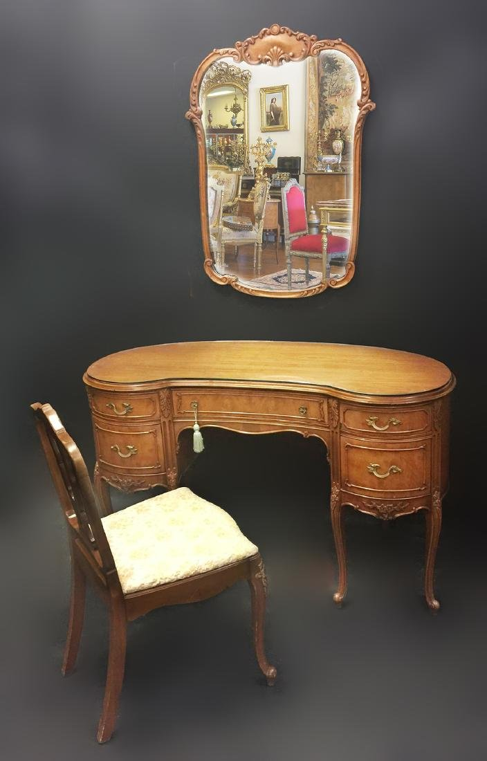 Makeup Vanity Set Table With Mirror