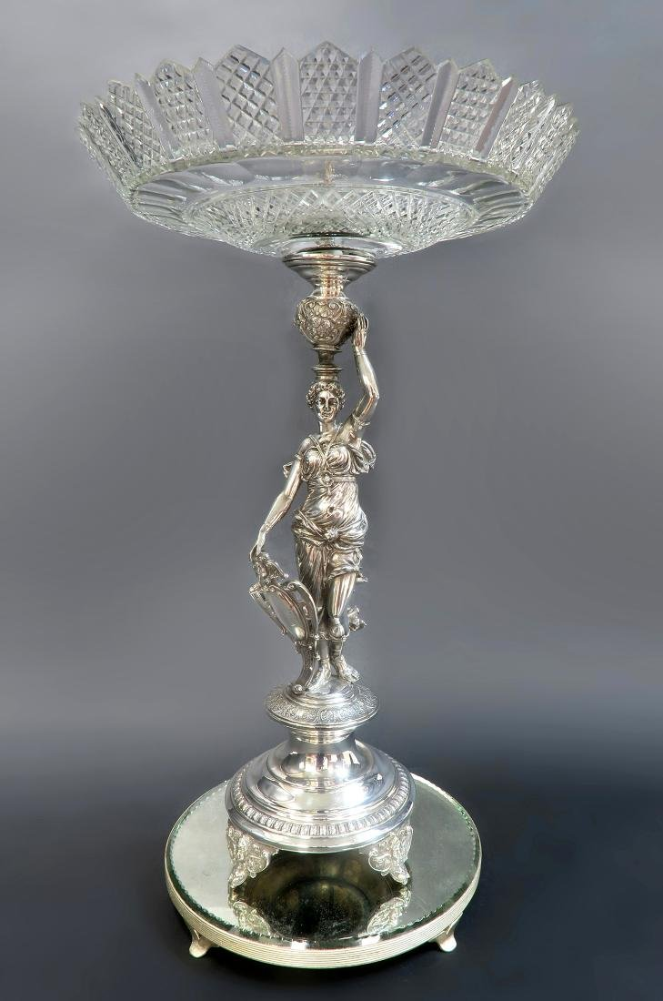 French Christofle Figural Silver-Plated Centerpiece