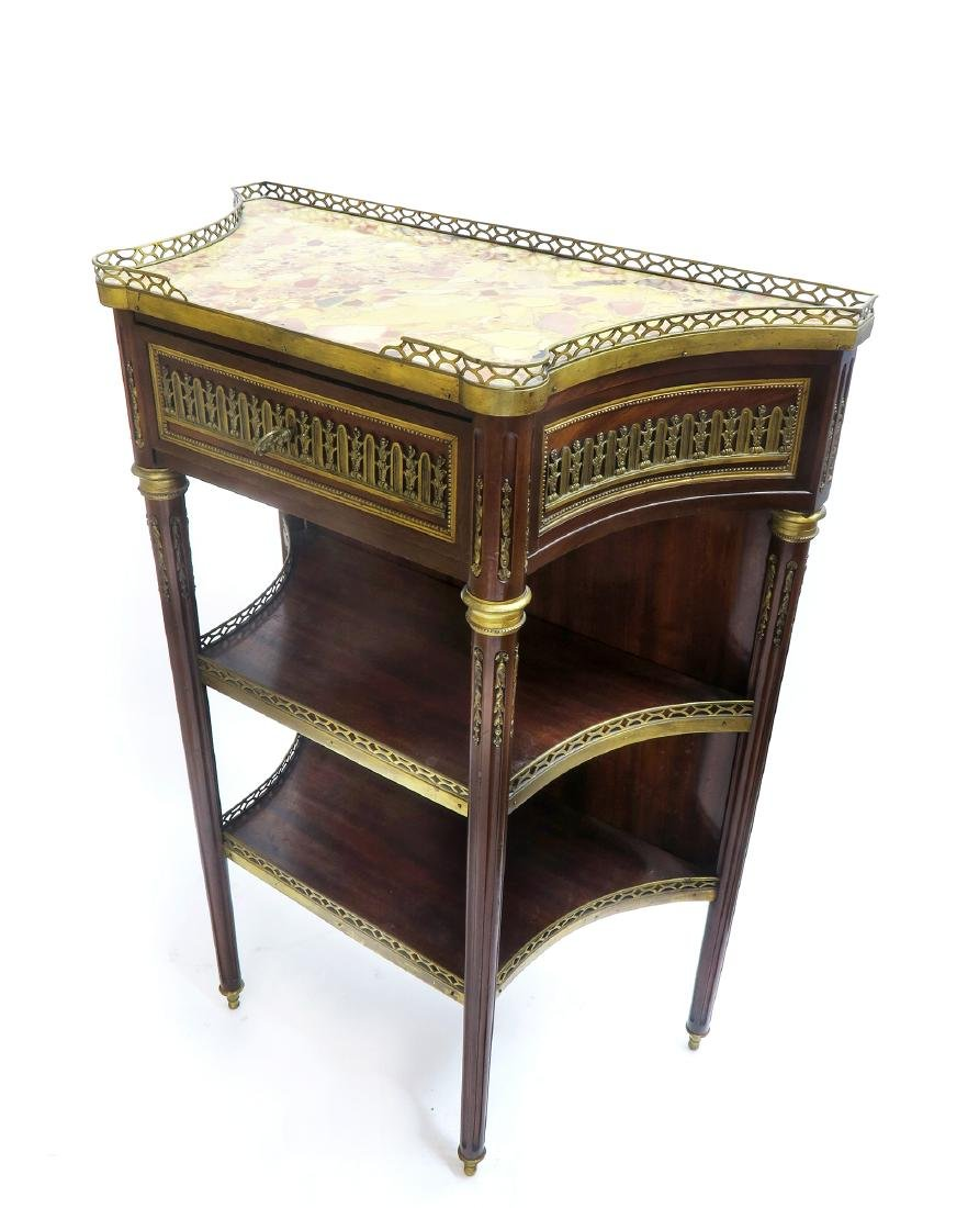 "19th C. French Gilt Bronze Mahogany ""Sormani"" Console"