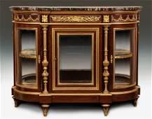 "A ""F. Linke"" Mahogany Vitrine Cabinet"